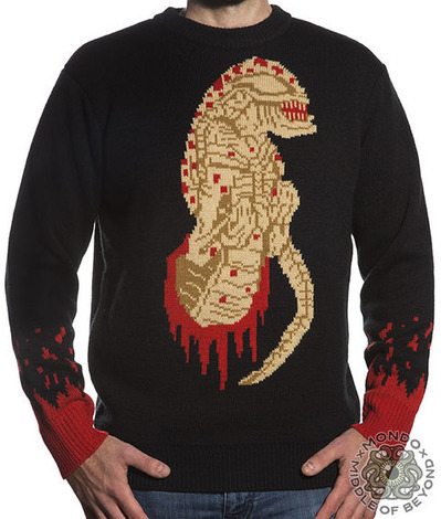 ALIEN MOVIE CHESTBURSTER SWEATER