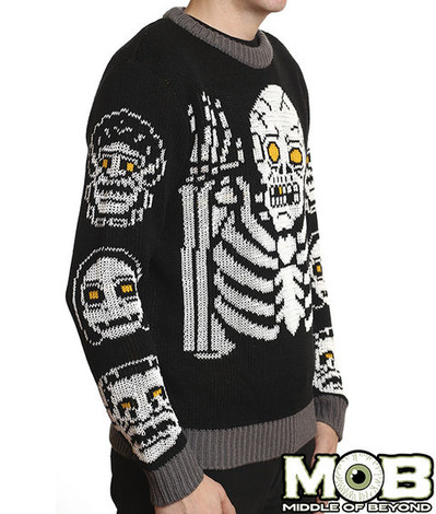 GLOW SKELETON SWEATER SIDE