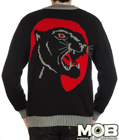 PANTHER TATTOO CARDIGAN BACK