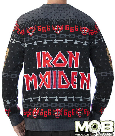 IRON MAIDEN SWEATER BACK