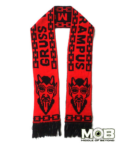 KRAMPUS THE CHRISTMAS DEVIL SCARF