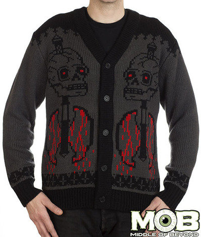 GOAT HEAD PENTAGRAM CARDIGAN