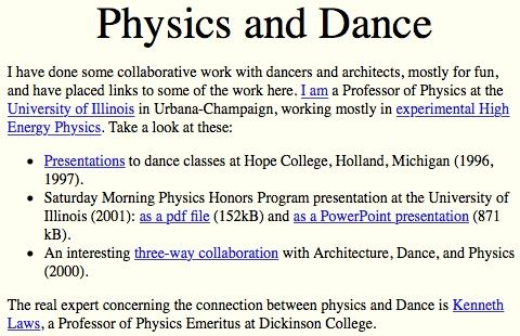 Physics and Dance by Prof.George Gollin