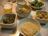 質素な晩ご飯