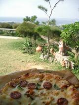 景色もピザも最高!