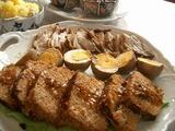 ミートローフ&煮卵&チャーシュー