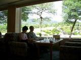 ぜいたくな景色の喫茶店