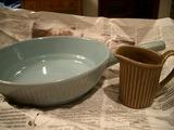 ミルクピッチャーと耐熱平皿