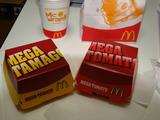メガマックシリーズの「メガたまご」と「メガトマト」