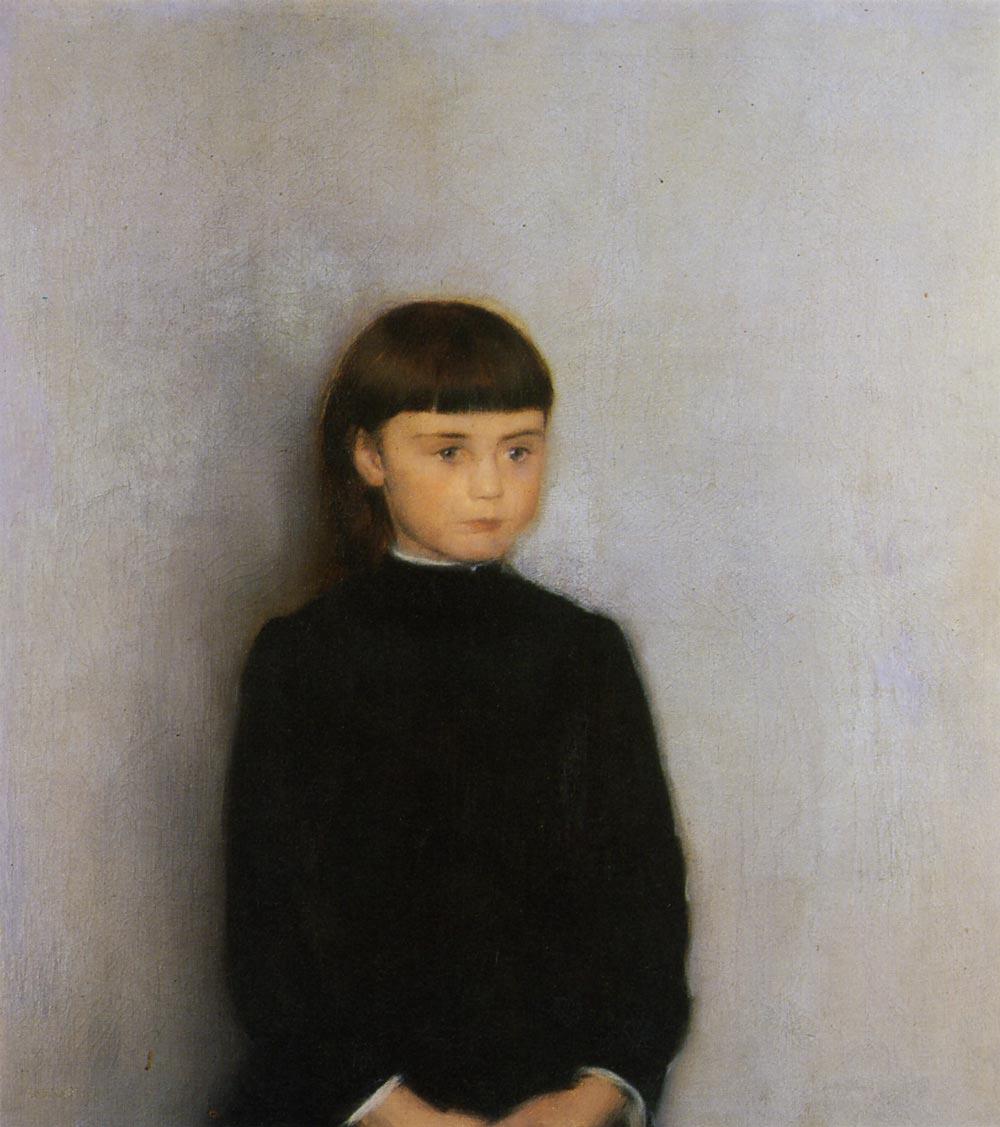 フェルナン・クノップフ『イザベル・ツェルステヴェンスの肖像』