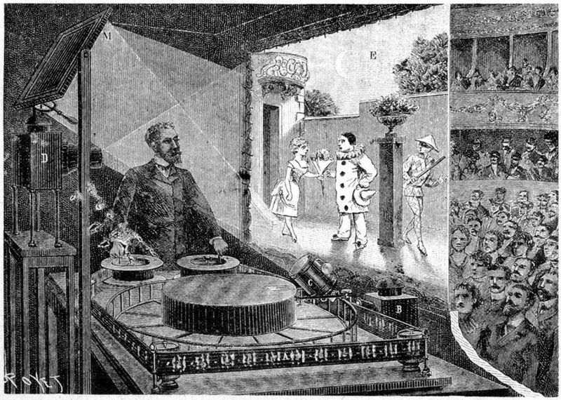 Theatreoptique  in Paris 1892
