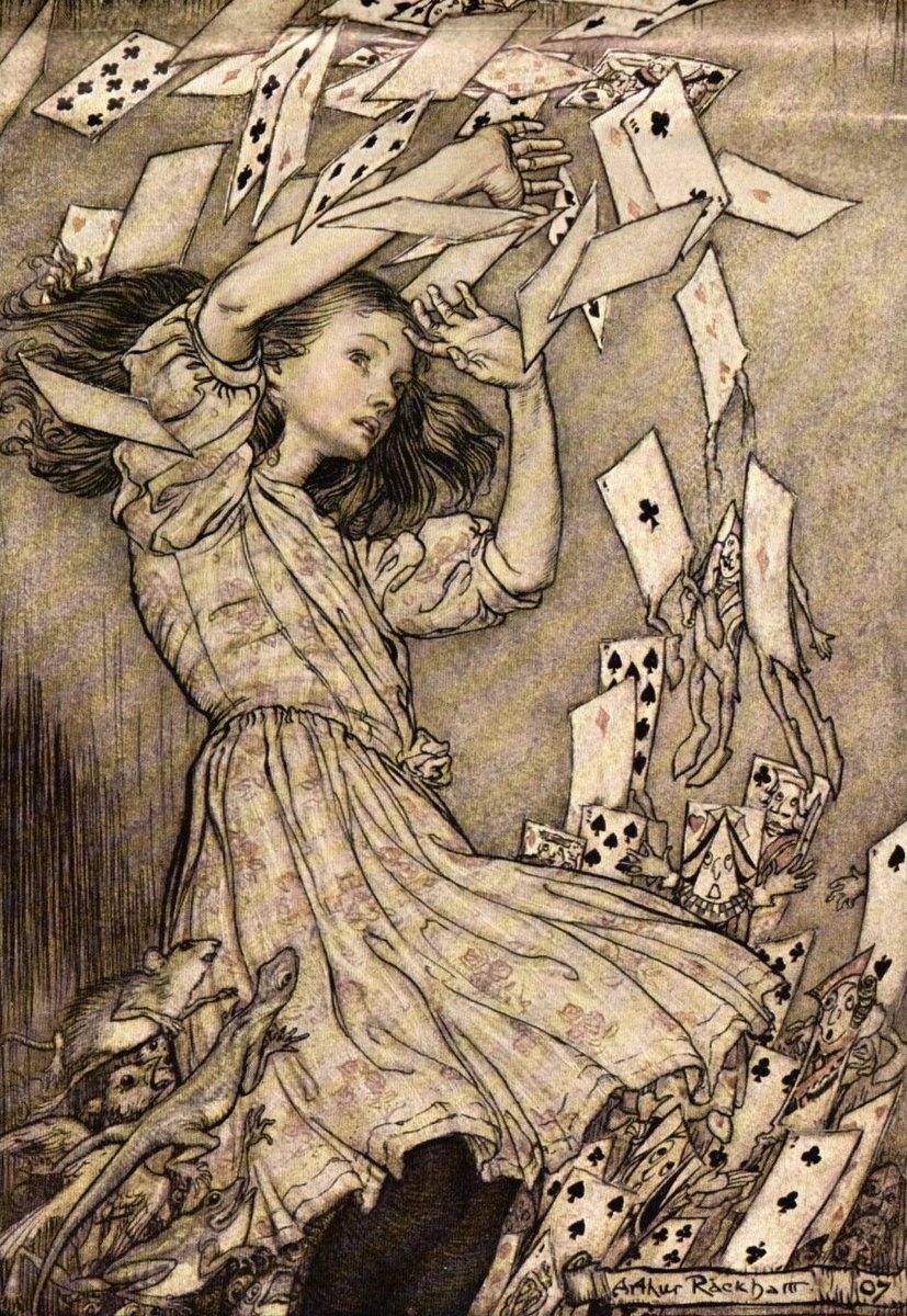 アーサー・ラッカム「不思議の国のアリス」m1