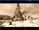 砂漠に立つ塔