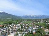 Vaduz城への登山道から