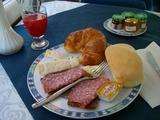 チザルピーノでの朝食