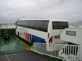Bus on boat