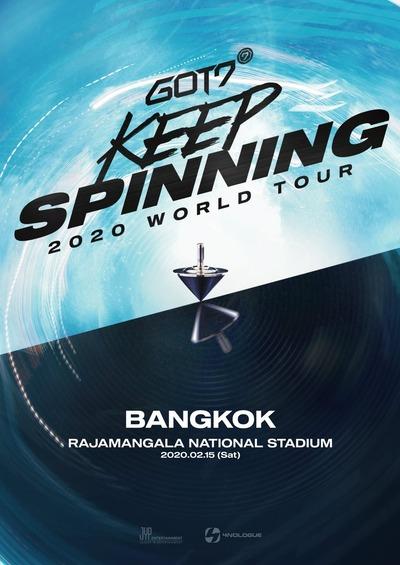 GOT7 2020 WORLD TOUR 'KEEP SPINNING' IN BANGKOK_poster