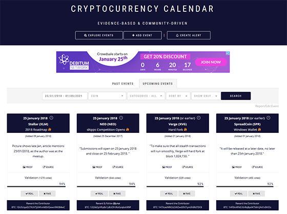 CryptocurrencyCalendar