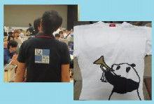 夏祭ポロとパンダ