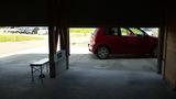 ガレージ掃除は大変