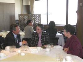 2008総会 会長との歓談