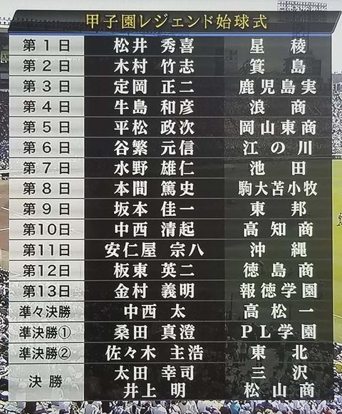 甲子園のレジェンド始球式wwwwww