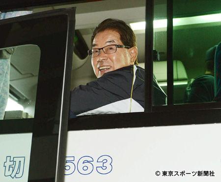 高木守道元監督のうれしそうな笑顔