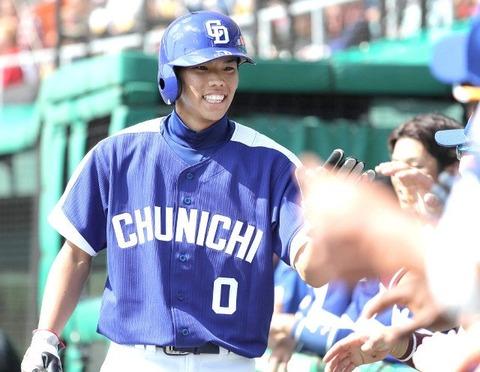 中日ドラ3高松渡(18歳)足で一軍抜擢に続き、打撃も評価