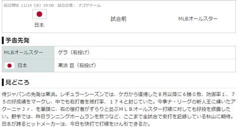 【実況・雑談用】 11/14 侍ジャパン vs MLBオールスター(ナゴヤドーム)19:00開始