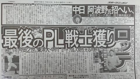 【中日】投手コーチに阿波野、赤堀