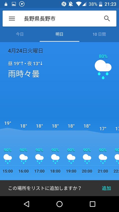 今日の巨人×中日、阪神×ヤクルトの降水確率wwww