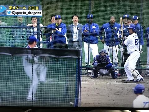 【動画】中日松坂、打撃投手登板で最速141キロ、45球でヒット性5本