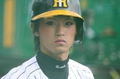 野球選手に化粧施してみた