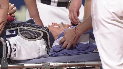 中日・杉山、脳には異常なしで「左頭部の打撲と切り傷」の診断