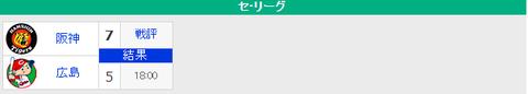 【9/21順位スレ】広-∬-神----------巨横---//---------------中-∬-ヤ