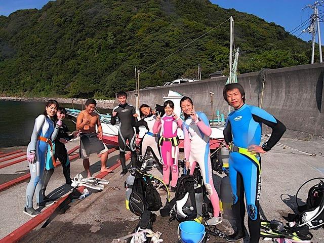 井田で平日ダイビング