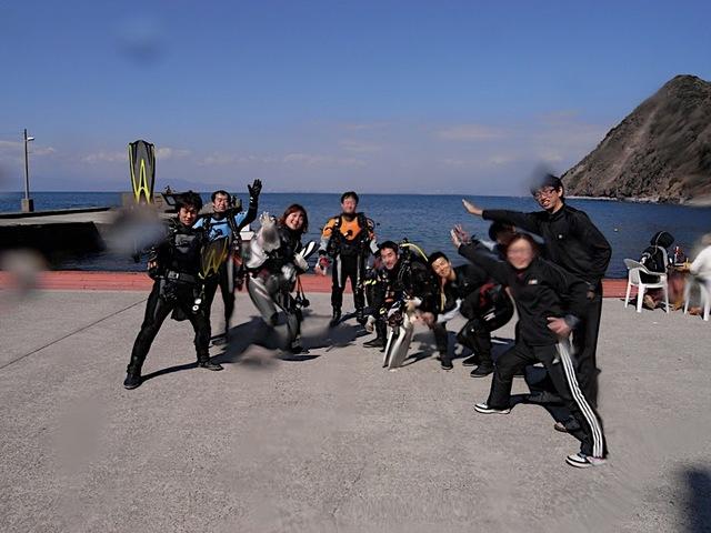 井田でスキューバダイビング