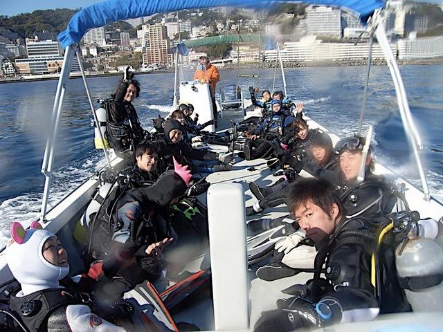 ボートダイビング楽し〜