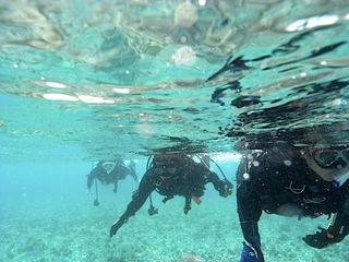 深場まで水面移動