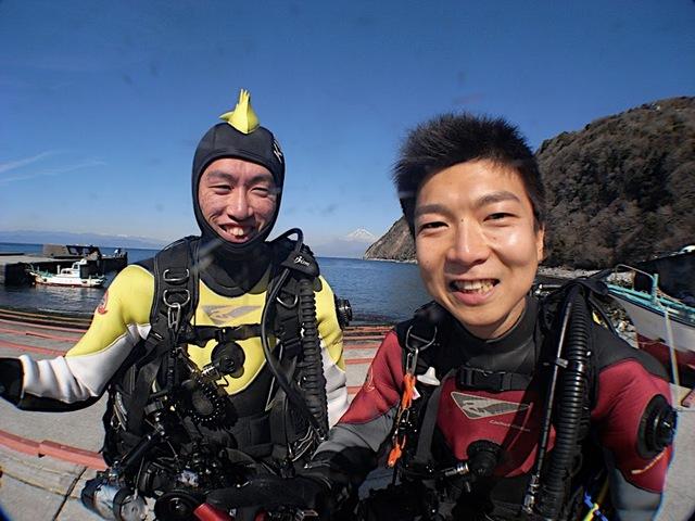 井田でダイビング