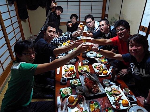堂ヶ島で豪華宴会!