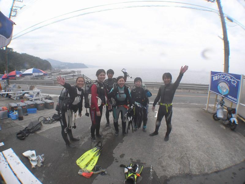 今日もみんなでダイビング 真鶴10.5