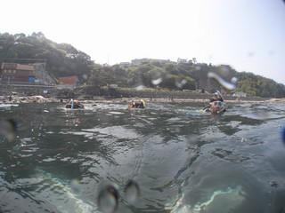 ダイビング 水面移動