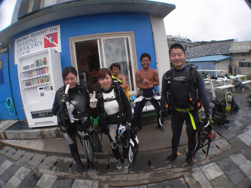 井田で楽しくダイビング♪