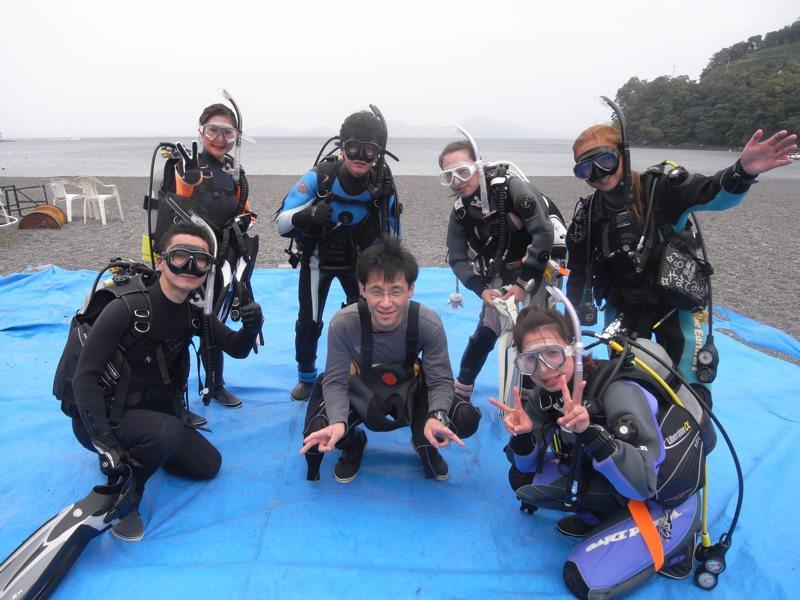 大瀬崎でダイビング