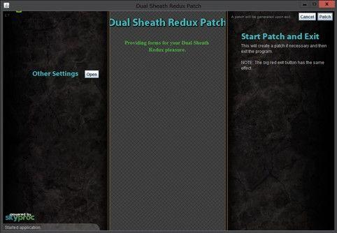 Skyproc patcher dual sheath nexus