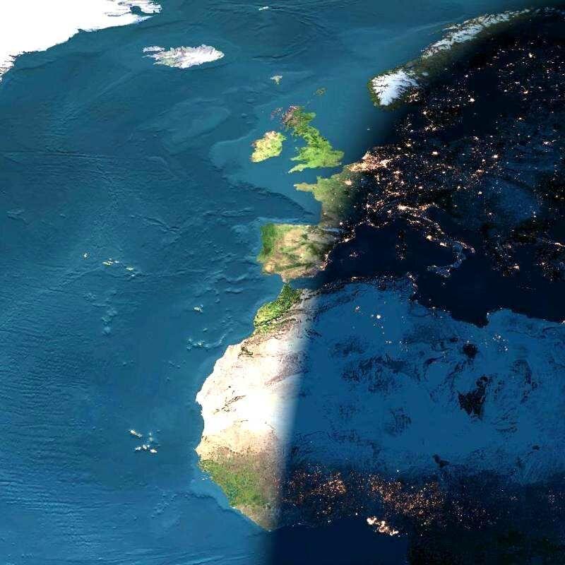 ヨーロッパの日没
