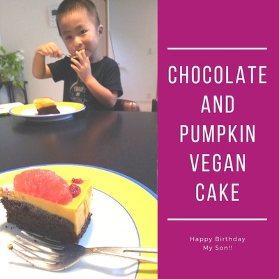 Chocolate and Pumpkin vegan Cake