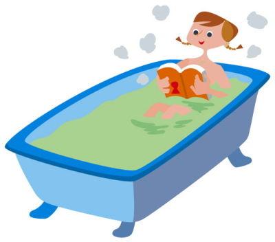 お風呂で音読