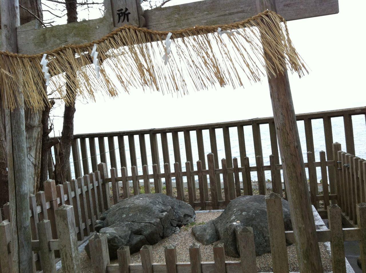 志賀島志賀海神社・亀石